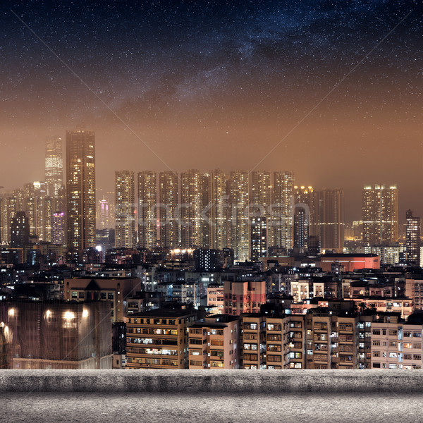 Hong Kong city skyline Stock photo © elwynn