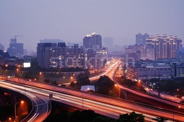Colorful city night Stock photo © elwynn