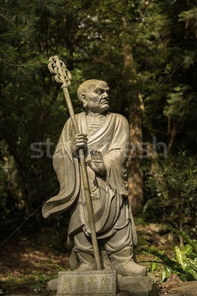 Heykel eski orman Tayvan Asya Tanrı Stok fotoğraf © elwynn