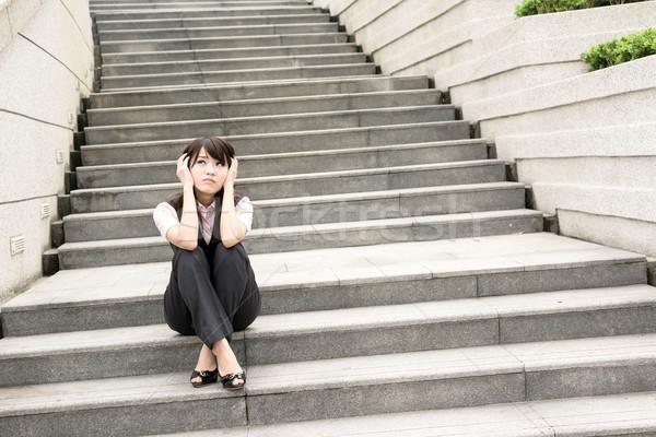 worried businesswoman Stock photo © elwynn