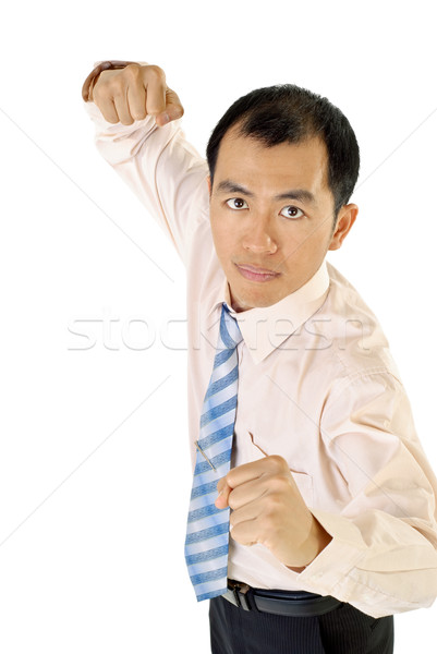 Businessman fighting Stock photo © elwynn