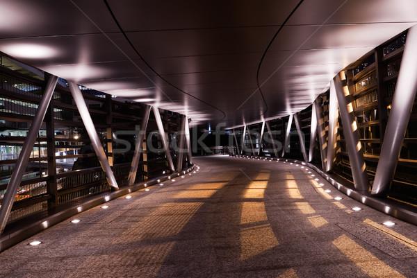 Modern flyover in the night with shadow Stock photo © elwynn