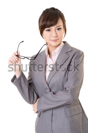Сток-фото: привлекательный · молодые · деловой · женщины · портрет · белый