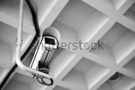 Caméra de sécurité public lieu bâtiments ville mur Photo stock © elwynn