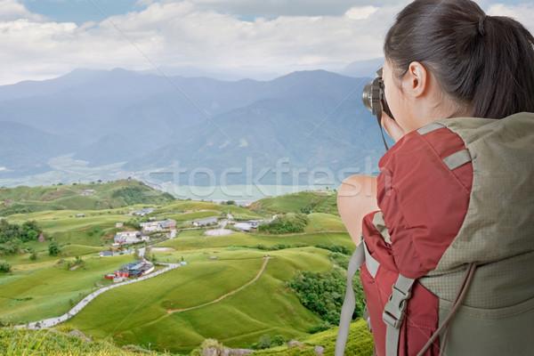 Backpacker foto asian vrouwelijke tijger Stockfoto © elwynn