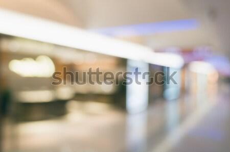 Abstrakten Einkaufszentrum seicht Büro Gebäude Stadt Stock foto © elwynn