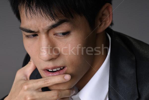 Sluw zakenman asian portret studio Stockfoto © elwynn