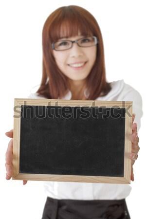 Сток-фото: доске · азиатских · деловой · женщины · Focus · совета