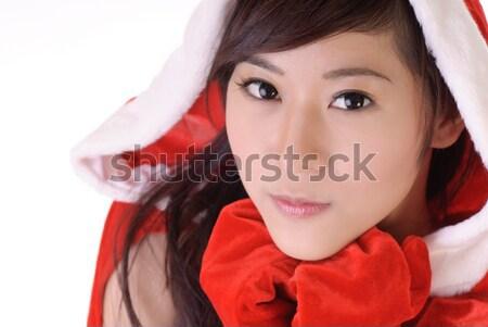 Santa lady Stock photo © elwynn