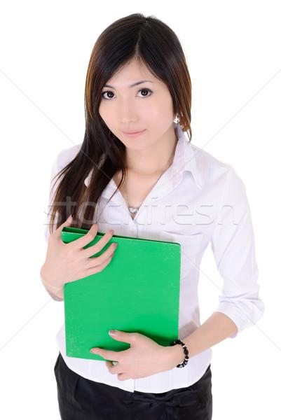 Jeunes secrétaire femme asian vert Photo stock © elwynn
