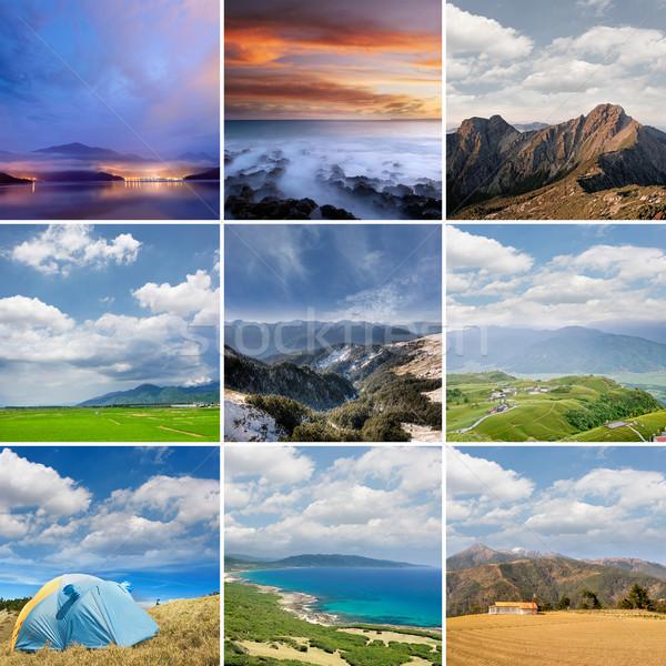 Landscape collection of Taiwan Stock photo © elwynn