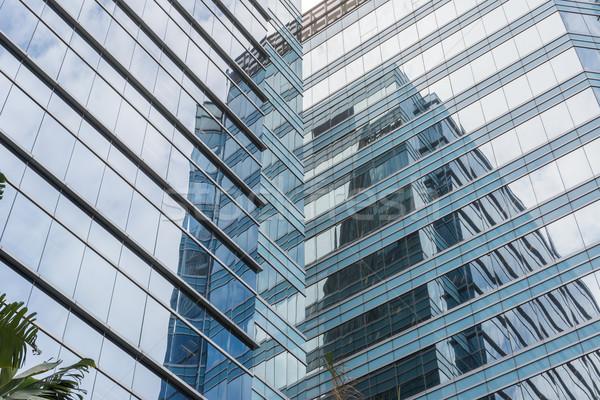 Office glass windows background Stock photo © elwynn
