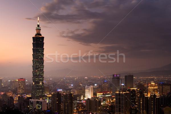 taipei 101, the tallest building in Taiwan Stock photo © elwynn
