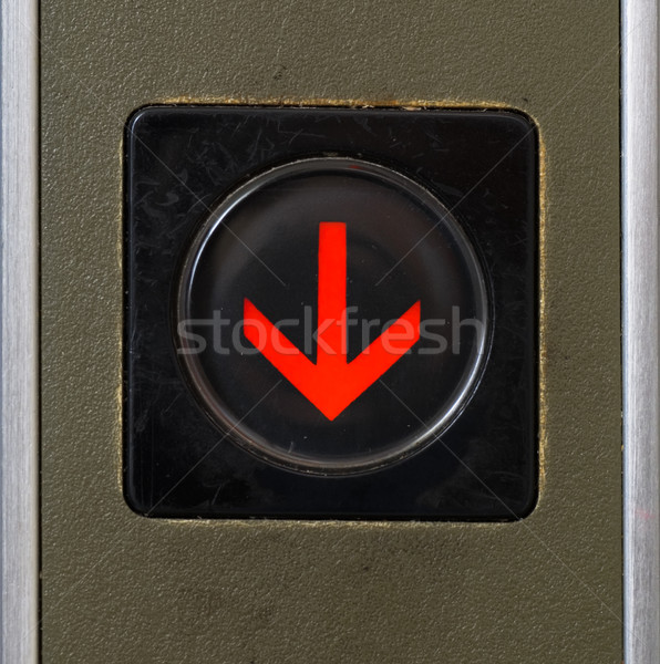 close-up elevator button of down sign Stock photo © elwynn