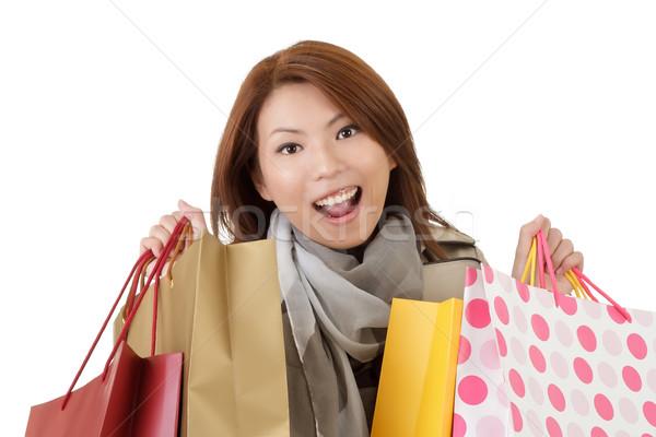 счастливым торговых женщину портрет Сток-фото © elwynn