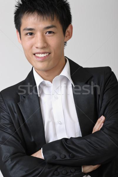 Niedojrzały człowiek biznesu asian portret studio Zdjęcia stock © elwynn
