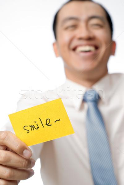 smile card Stock photo © elwynn