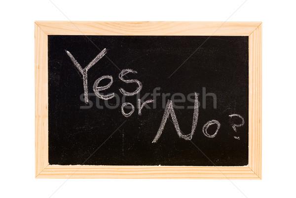 yes or no? Stock photo © elwynn