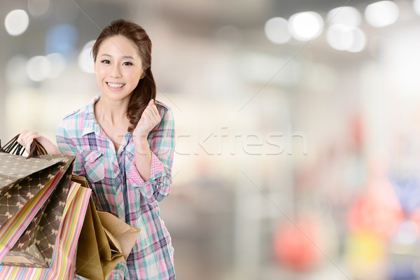 shopping woman Stock photo © elwynn