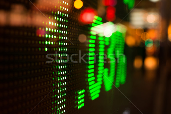 Hong Kong stock market Stock photo © elwynn