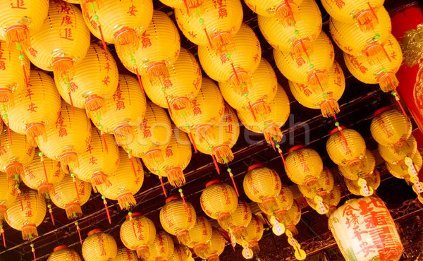 lot of yellow chinese lantern Stock photo © elwynn