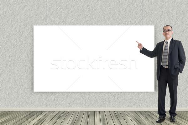 business man introduce Stock photo © elwynn