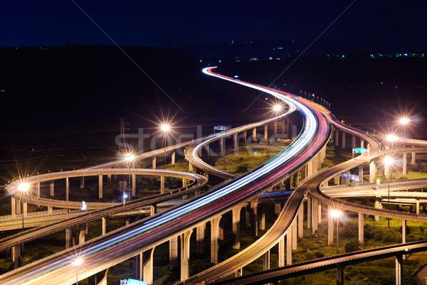 Freeway in night Stock photo © elwynn