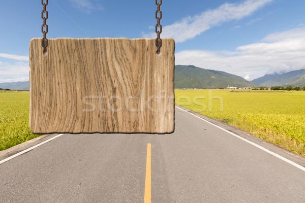 Blank wooden sign Stock photo © elwynn