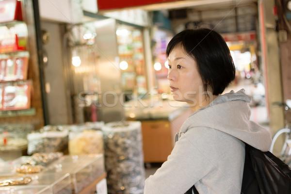 Mature Asian women at street Stock photo © elwynn