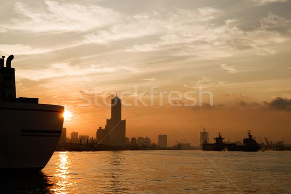 City silhouette Stock photo © elwynn