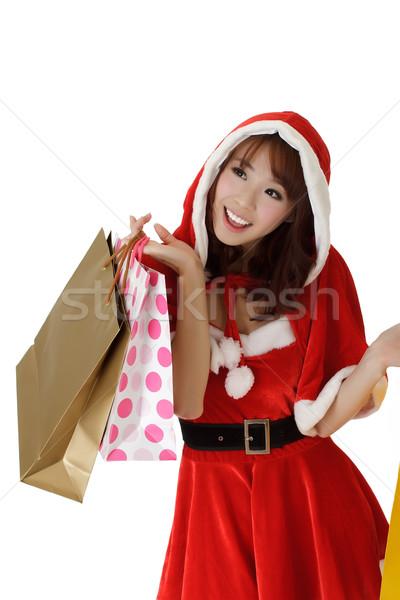 Happy shopping woman Stock photo © elwynn