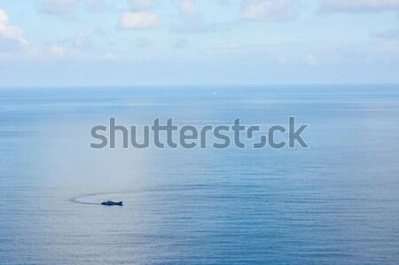 Mooie zeegezicht oceaan blauwe hemel hemel schoonheid Stockfoto © elwynn