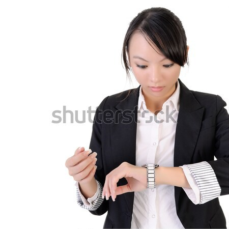 Business woman check time Stock photo © elwynn
