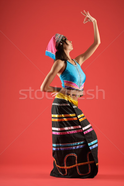 Colorful dancer of Chinese Stock photo © elwynn