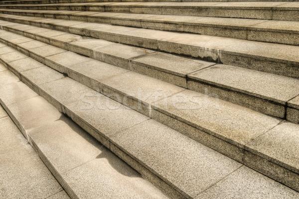 Stock fotó: Kő · lépcső · lépcső · kívül · város · épület