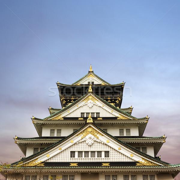 Осака замок один известный Япония Азии Сток-фото © elwynn