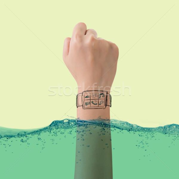 Smart oglądać wodoodporny wzrostu nowego Zdjęcia stock © elwynn