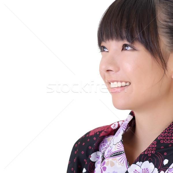 Японский девушки портрет улыбающееся лицо копия пространства Сток-фото © elwynn