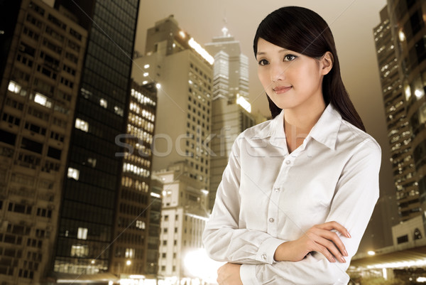Business woman outdoor Stock photo © elwynn