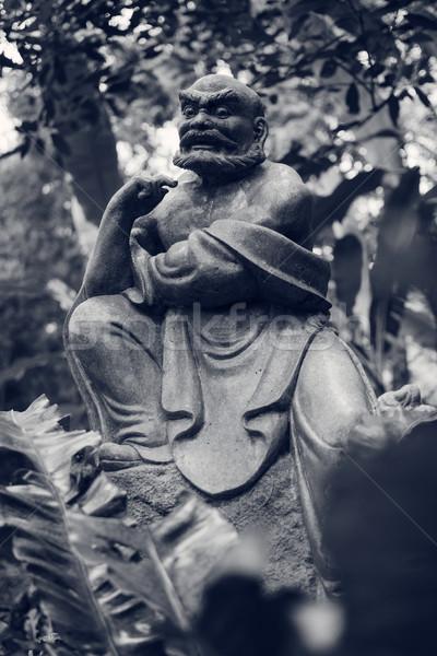 Heykel eski orman Tayvan Asya bahçe Stok fotoğraf © elwynn