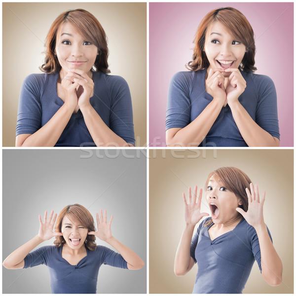 Asian Frau Gesicht Sammlung Porträt Frau Stock foto © elwynn