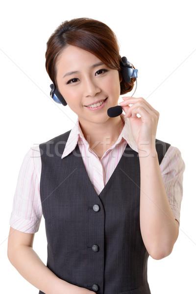 Vriendelijk secretaris telefoon exploitant witte business Stockfoto © elwynn