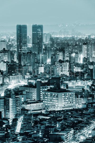 Urban scenery in night Stock photo © elwynn