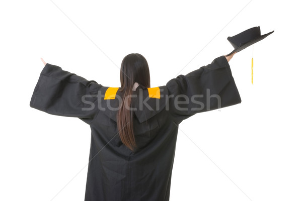 Asian graduation woman from a back Stock photo © elwynn