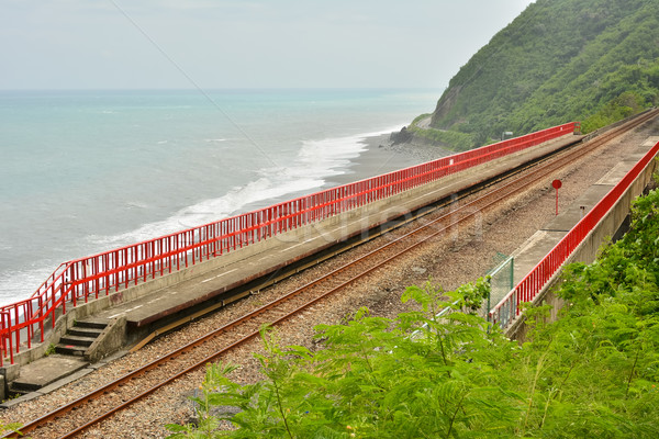 Coastline with railway Stock photo © elwynn