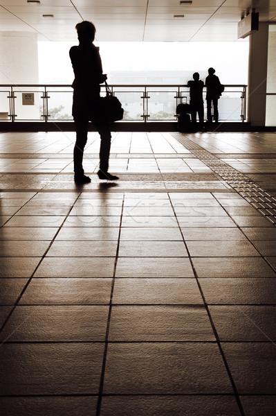 Silhouette célibataire couple loin loin Photo stock © elwynn