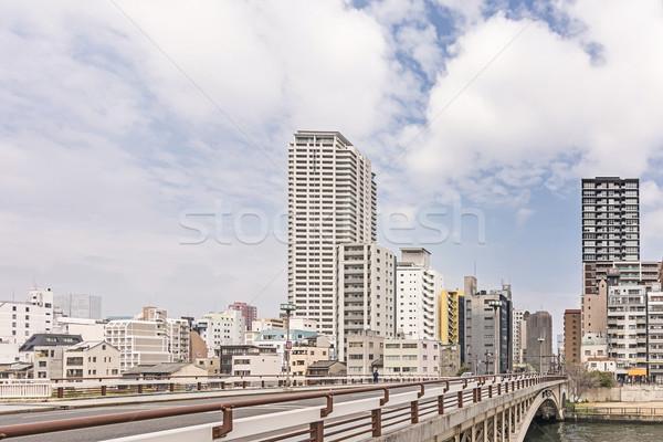 Осака городской улице декораций моста современных Сток-фото © elwynn
