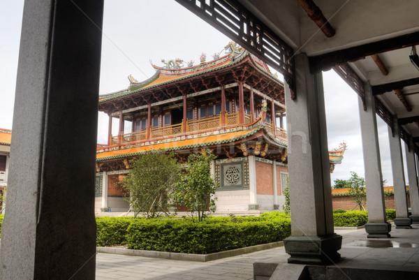 Chinese temple and corridor Stock photo © elwynn