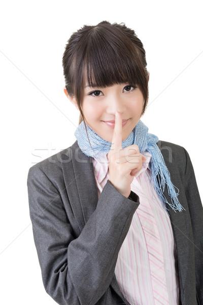 азиатских женщину тихий изолированный белый Сток-фото © elwynn