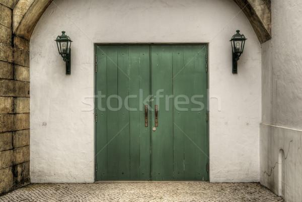 Green door  Stock photo © elwynn